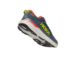 נעלי ריצה לגברים HOKA BONDI 7 WIDE בצבע אפור/ירוק