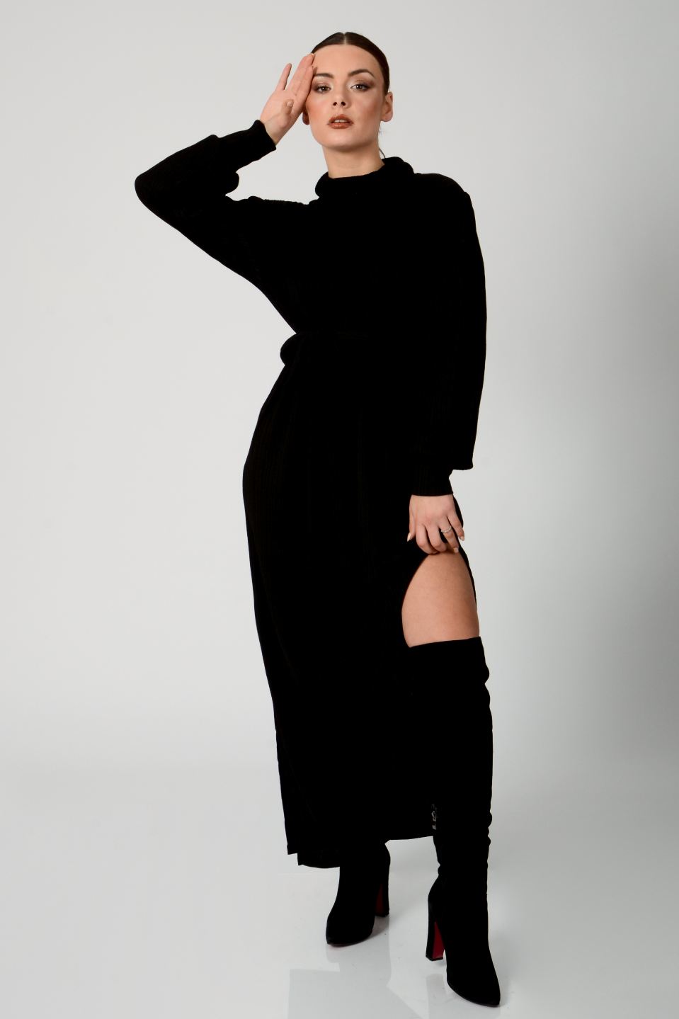 שמלת ערב סלין שחורה