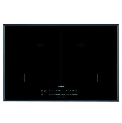 כיריים אינדוקציה 80 ס''מ, זכוכית קראמית, לחצני מגע AEG HK854400FB