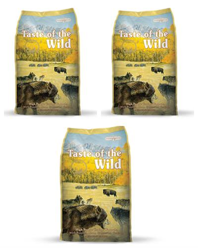 """3 שקים Taste Of The Wild ביזון 13 ק""""ג"""