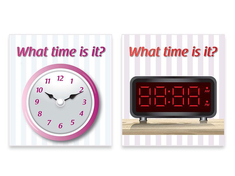 ערכות אישיות ללימוד השעון באנגלית| individual format Clock Game