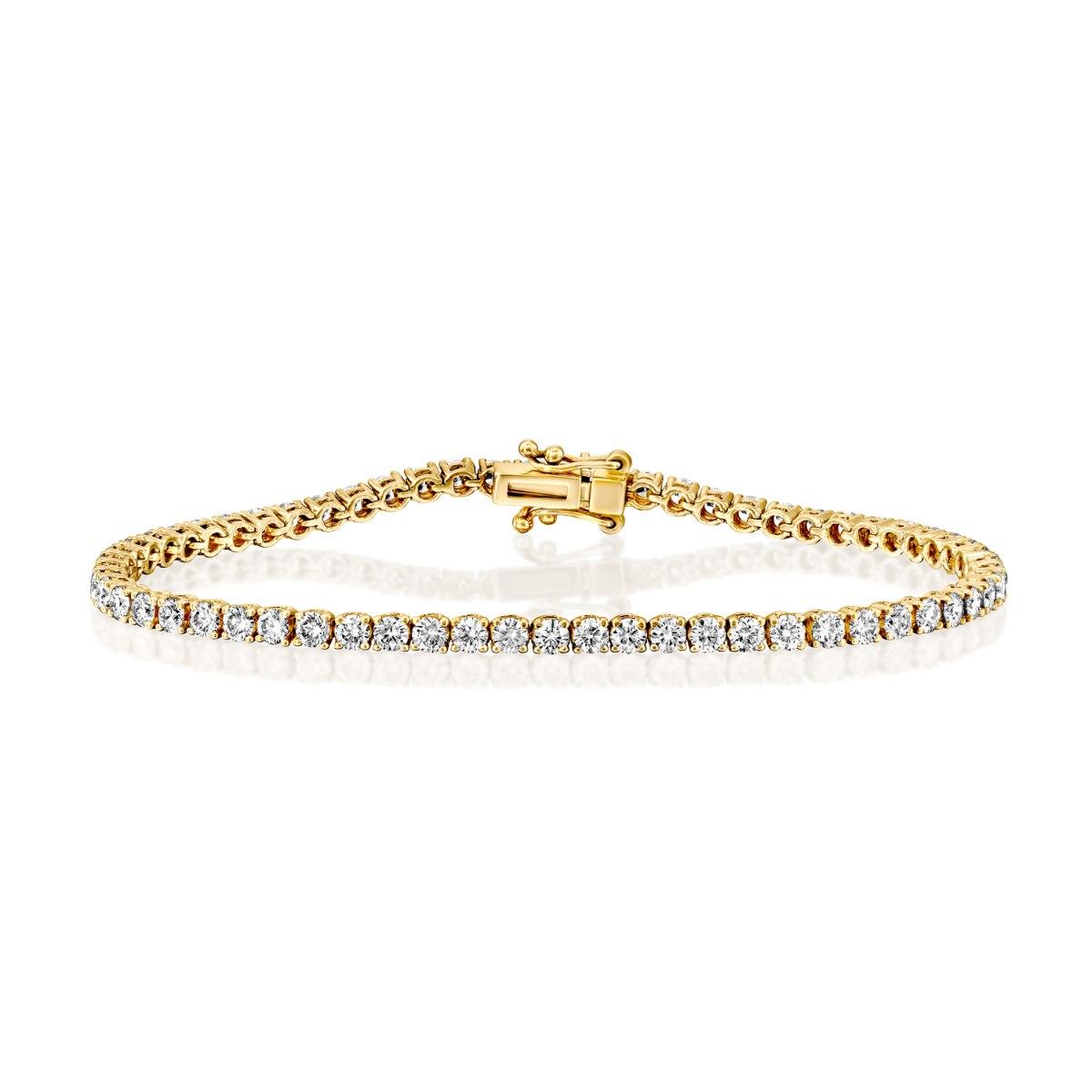 צמיד טניס זהב 14 קראט משובץ יהלומים