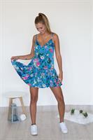 שמלת סאמר פרחוני כחול