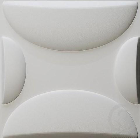 חיפויי קיר תלת מימדי דגם ''Andy'' בגודל 50X50