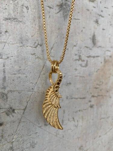 שרשרת כנף זהב לגבר
