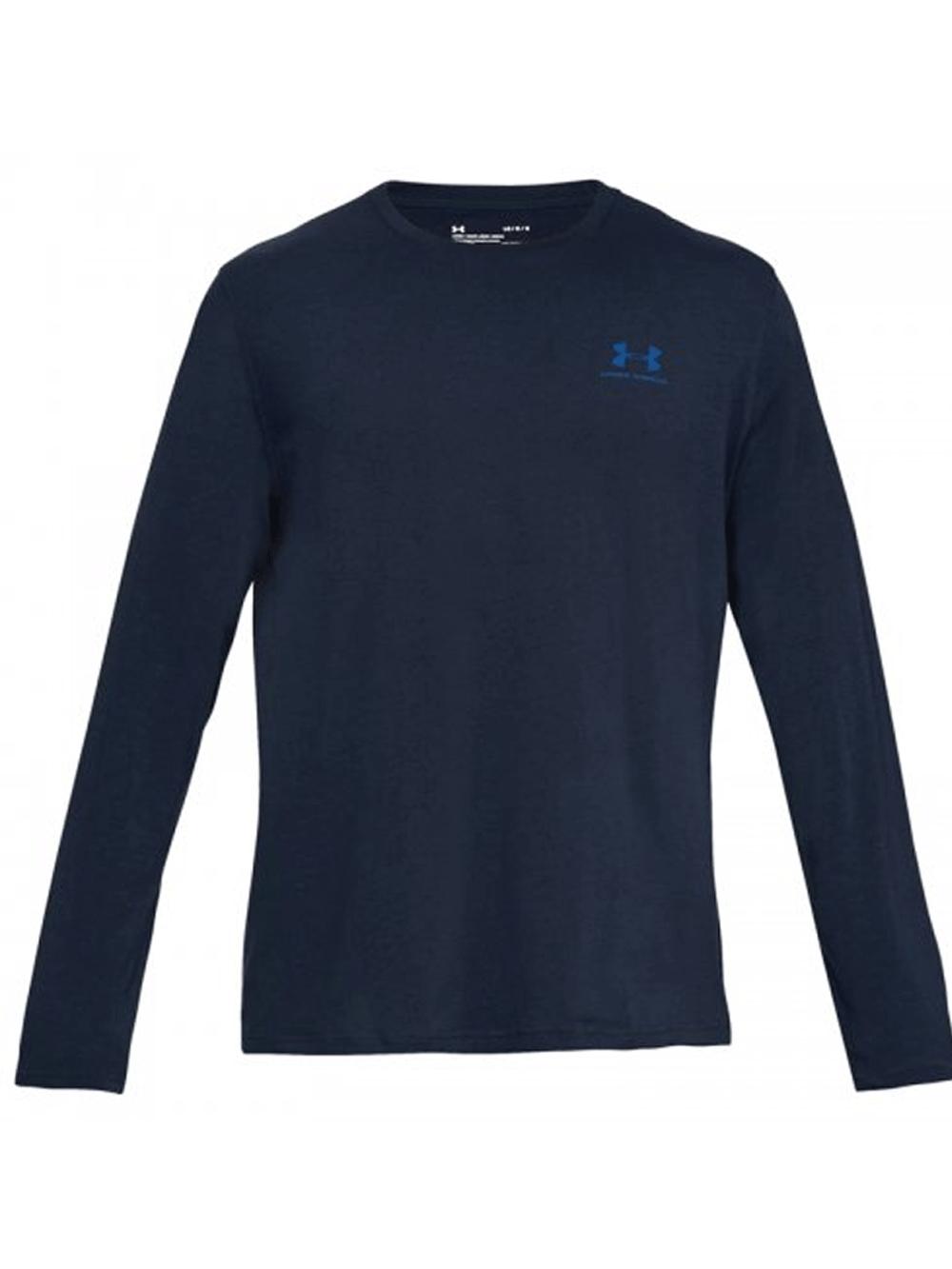 חולצת אימון אנדר ארמור שרוול ארוך לגבר 1289909-408 Under Armour men's long sleeve left Chest