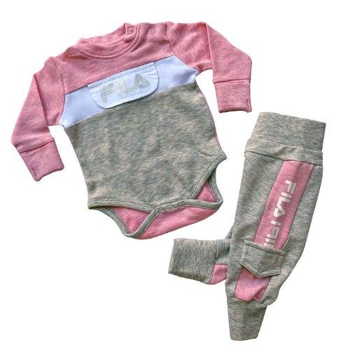 חליפת בגד גוף ומכנס פוטר FILA בייבי תינוקות - מידות NB  עד 12 חודשים