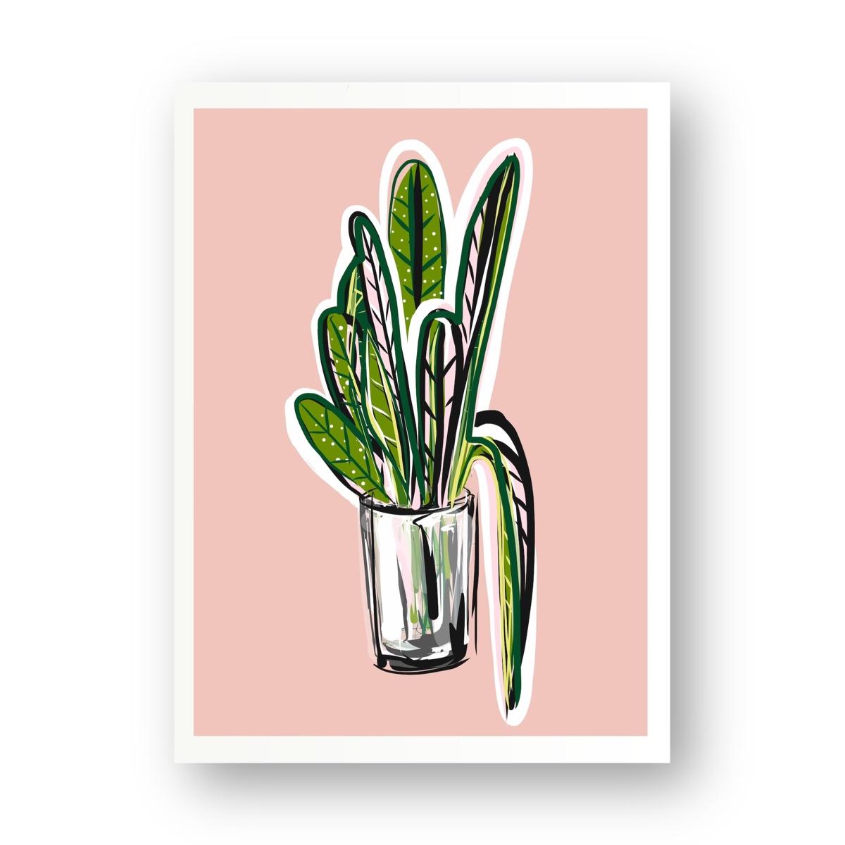 צמח  בכלי זכוכית