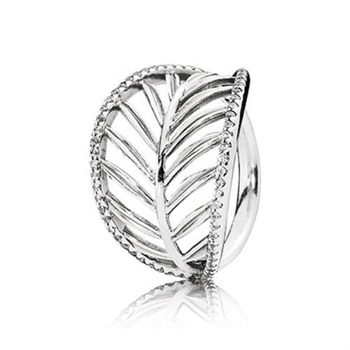 טבעת הצהרה מכסף טרופיקנה בשיבוץ זרקונים