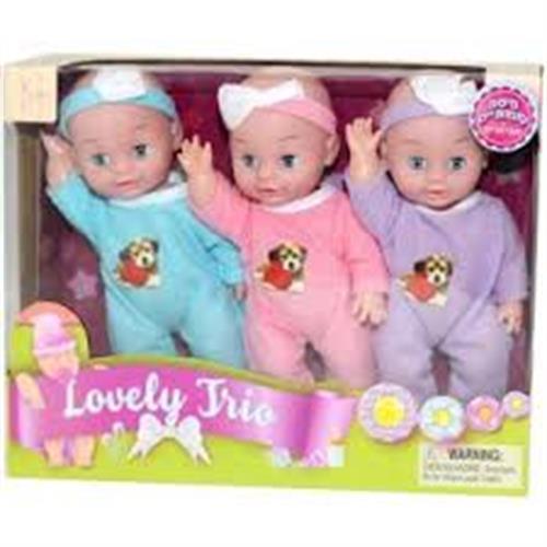 שלישיית בובות תינוק 28 סמ במארז