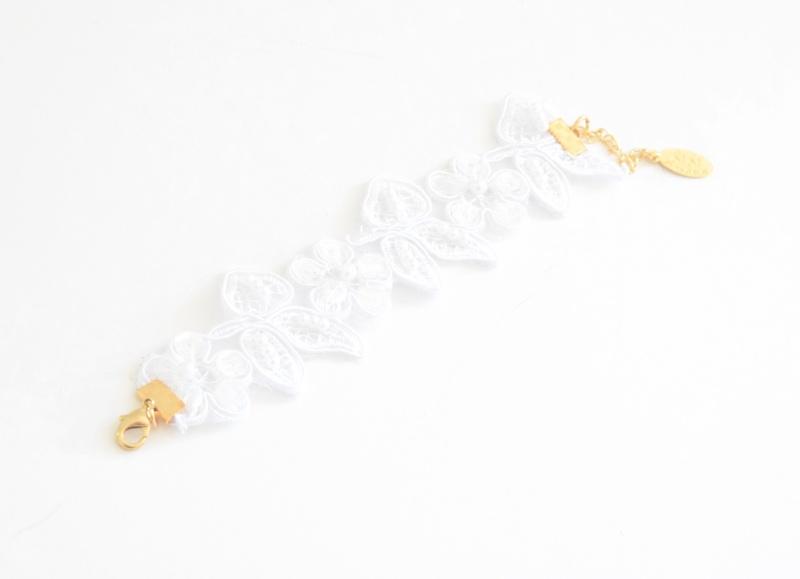 צמיד כלה אלכסה-סגירה זהב