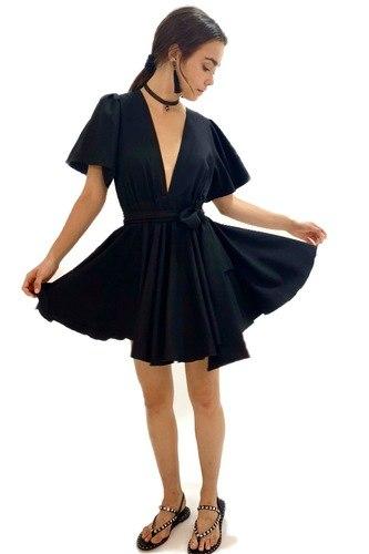 שמלת אניה שחור