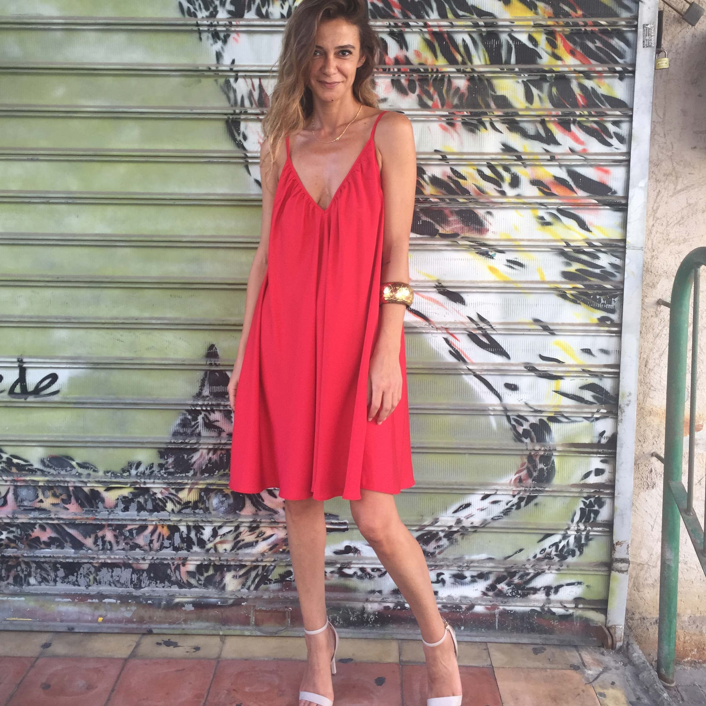 שמלת קלי אדום