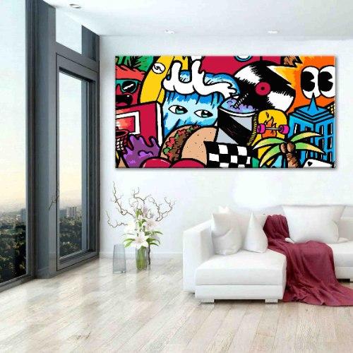 ציור פופ ארט צבעוני גדול להלבשת הבית של האמן כפיר תג'ר
