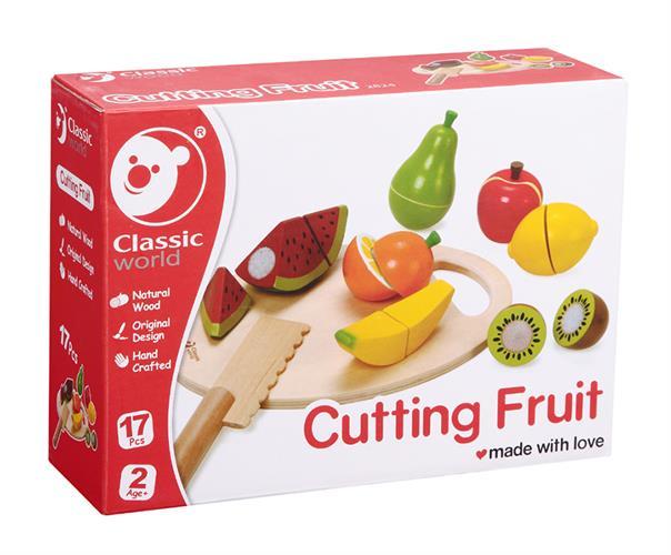 סט חיתוך פירות עץ