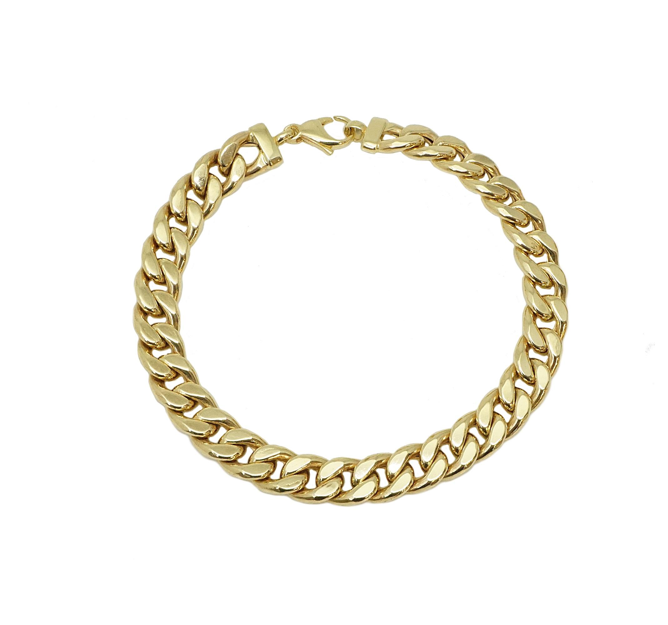 צמיד זהב קלאסי לאישה עשיר ויוקרתי