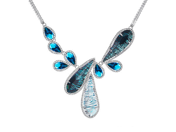 שרשרת קריסטלים כחולים נשים PR 2830 805 67