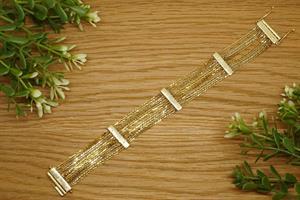 צמיד שרשראות זהב לאישה