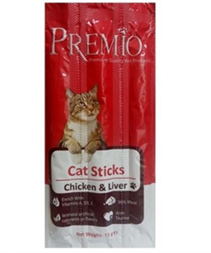 פרמיו סטיקס לחתול עוף וכבד/סלמון ופורל 3 + 1 מתנה!