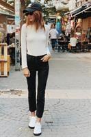 ג'ינס בוסטון ישר סיומת גזורה