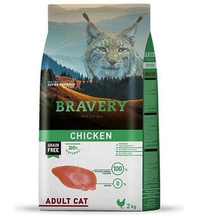 """ברוורי מזון לחתולים ללא דגנים עוף 2 ק""""ג"""