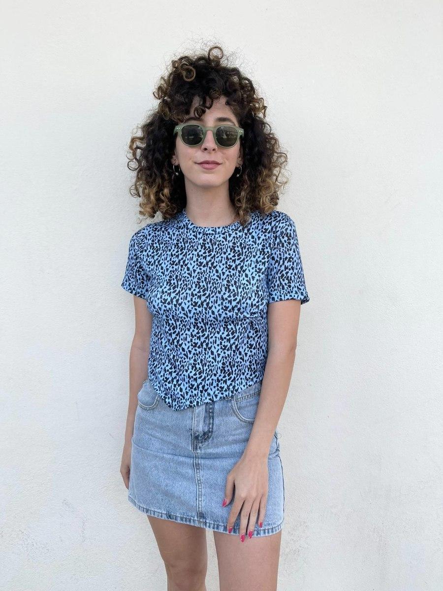חולצת אליס כחולה