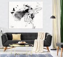 תמונה שחור לבן בסלון