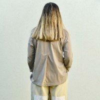 חולצה מדגם קשת (שרוול ארוך) בצבע מוקה