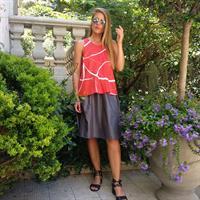 חצאית ניילון יפני אפורה