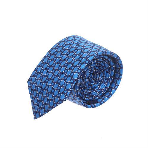עניבה שרשראות כחול בהיר