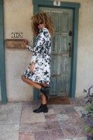 שמלת רוז שחור לבן