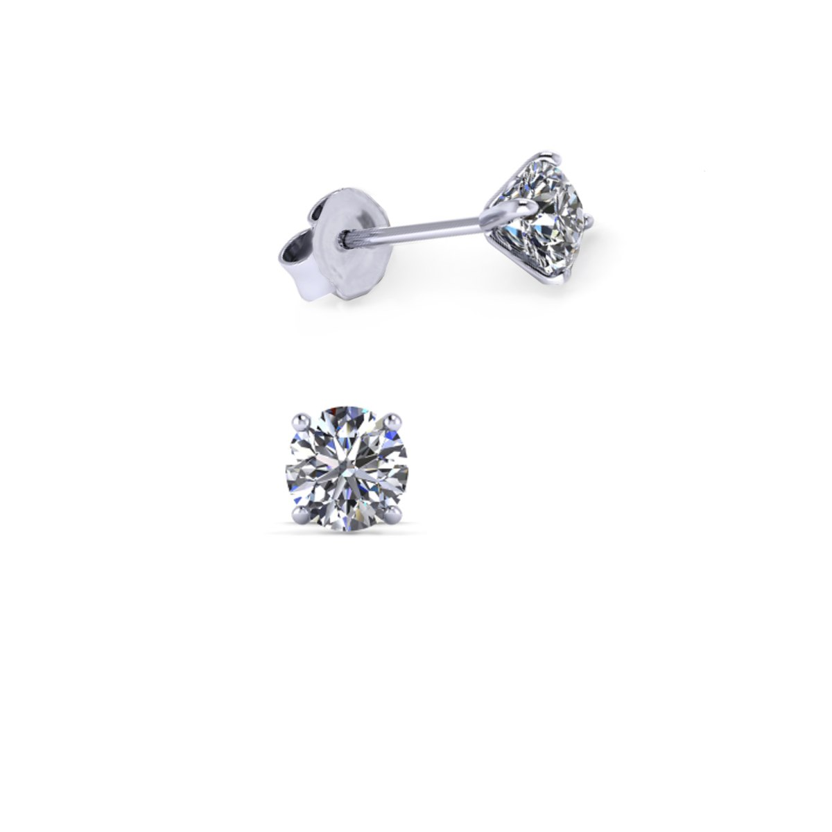 עגילי יהלומים צמודים לאישה 0.60 קראט - עגילי יהלומים צמודים לאוזן