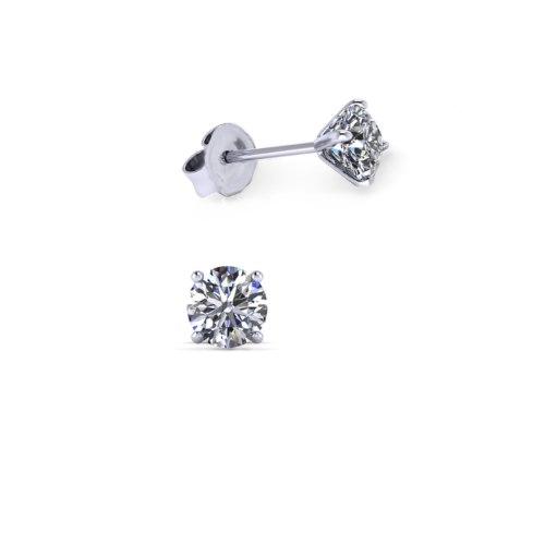 עגילי יהלומים צמודים לאישה 0.50 קראט - עגילי יהלומים צמודים לאוזן