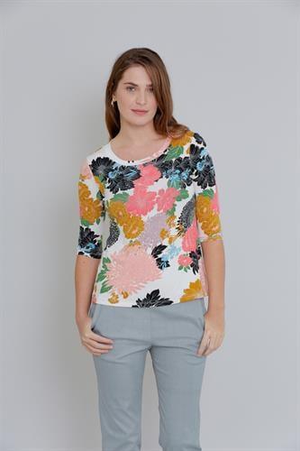 חולצת טריקו פרחונית