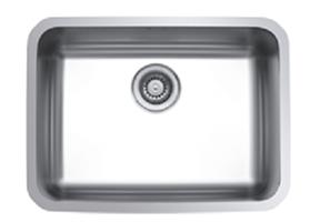 כיור UKINOX נירוסטה יחיד בהתקנה שטוחה דגם בזל - תוצרת אירופה