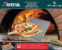 אבן שמוט להכנת פיצה + קרש להכנסת/הוצאת פיצה מהתנור MADE IN ITALY