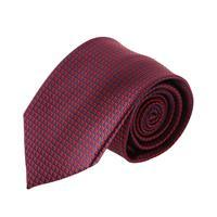 עניבה קלאסית ריבועים אדום יין