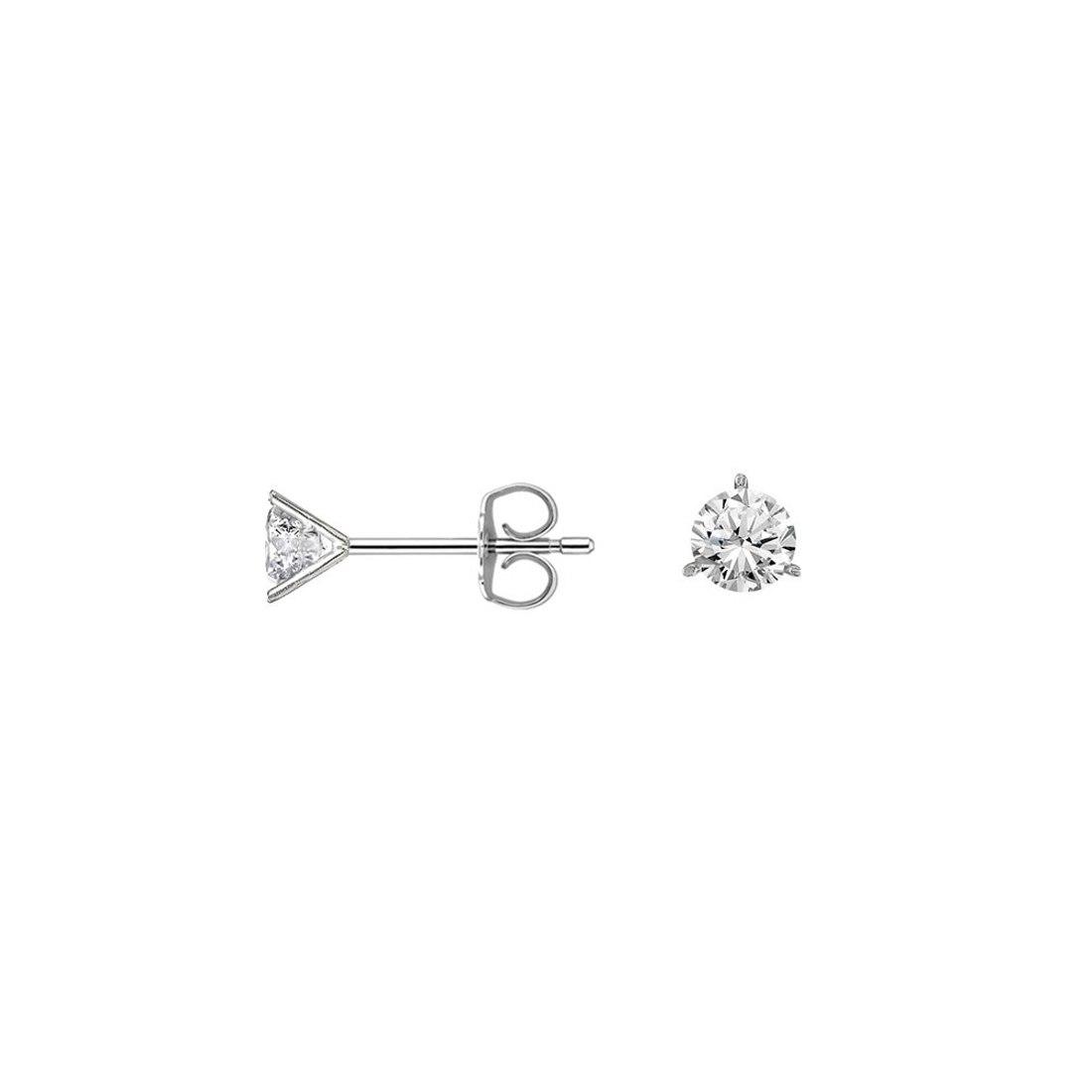 עגילי יהלומים שלוש שיניים צמודים לאוזן  0.40 קראט