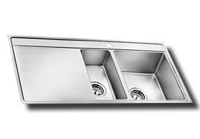 כיור מטבח נירוסטה יחיד וחצי עם משטח תוצרת אולין דגם צ'ילה