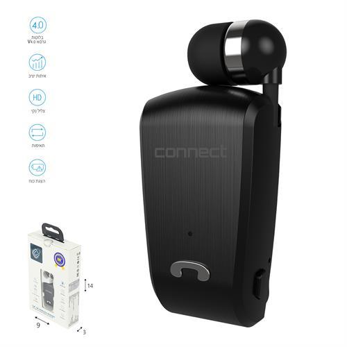 אוזניית סיליקון דיבורית Bluetooth (חוט נשלף)