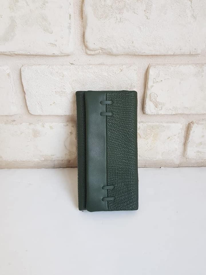 ארנק דמוי עור בינוני ירוק 4041