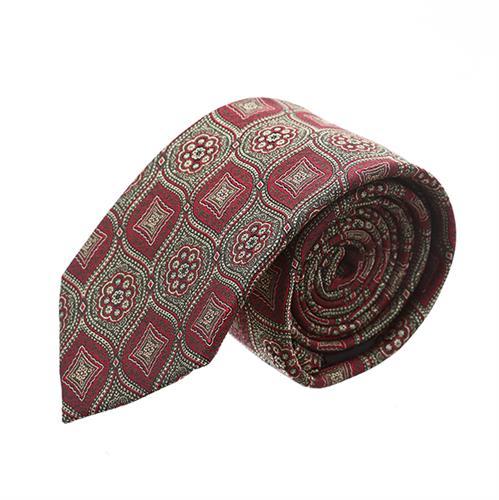 עניבה פרחים מעויינים אדום