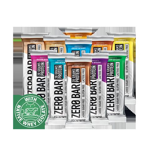 מארז חטיפי חלבון 10 יח ZERO BIOTECH|ללא סוכר,לקטוז,גלוטן