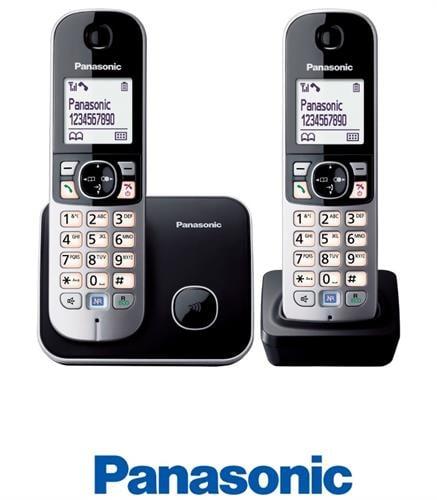 Panasonic טלפון אלחוטי + שלוחה אחת דגם  KX-TG6812MBB