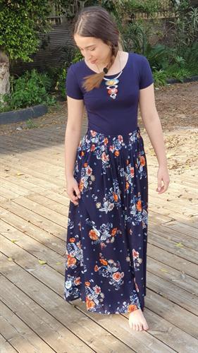 חצאית כותנה מקסי