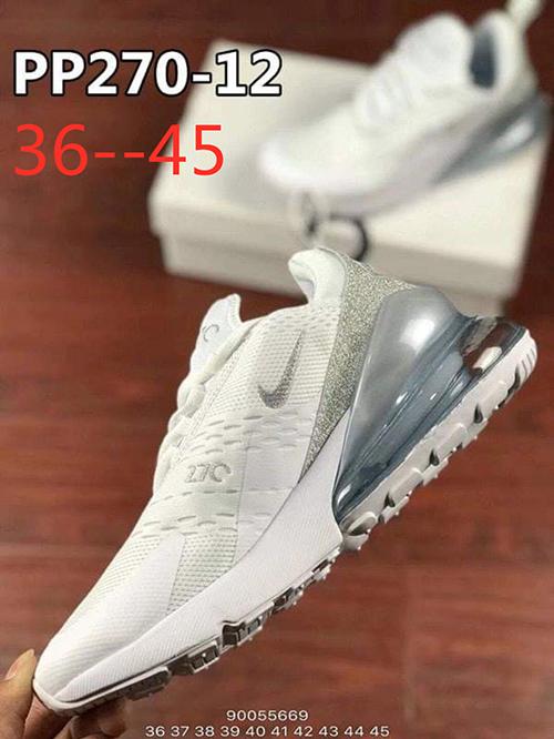 נעלי נייק מקס 270 דגם חדש בצבעים כסף / זהב / ורוד