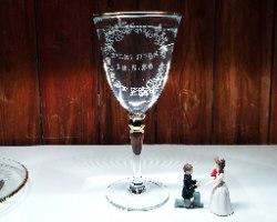 כוס קידוש עם חריטה