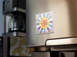 מגנט אומנותי- מנדלת כוכב האור - מנדלה מקורית בעבודת יד מודפסת על מגנט