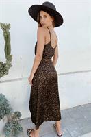 שמלת מידי אוליביה מנומרת