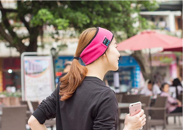 רצועה לראש עם אוזניות בלוטוס